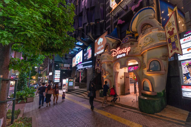 Night city tokyo japan the disney store in shibuya a famous place for picture id1015801570?b=1&k=6&m=1015801570&s=612x612&w=0&h=6h7smucrhwryg3ajwgkbzbyn7d3ashw1vldw5g9cil0=