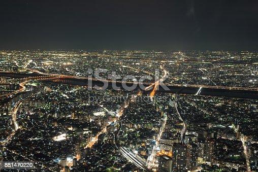 512524478 istock photo Night City View from The Sky Tree Tokyo 881470220