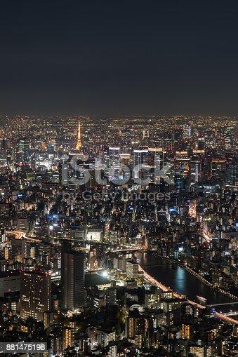 512524478 istock photo Night City View from The Sky Tree Tokyo 881475198