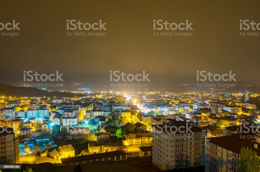 Night City view stock photo