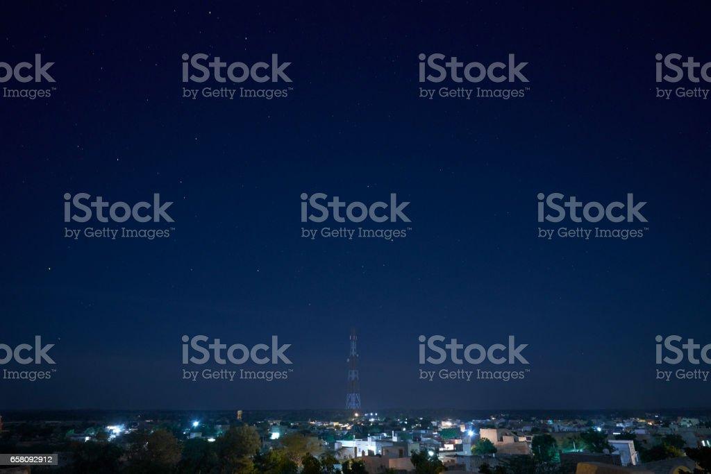 Night Cityscape of Khimsar royalty-free stock photo