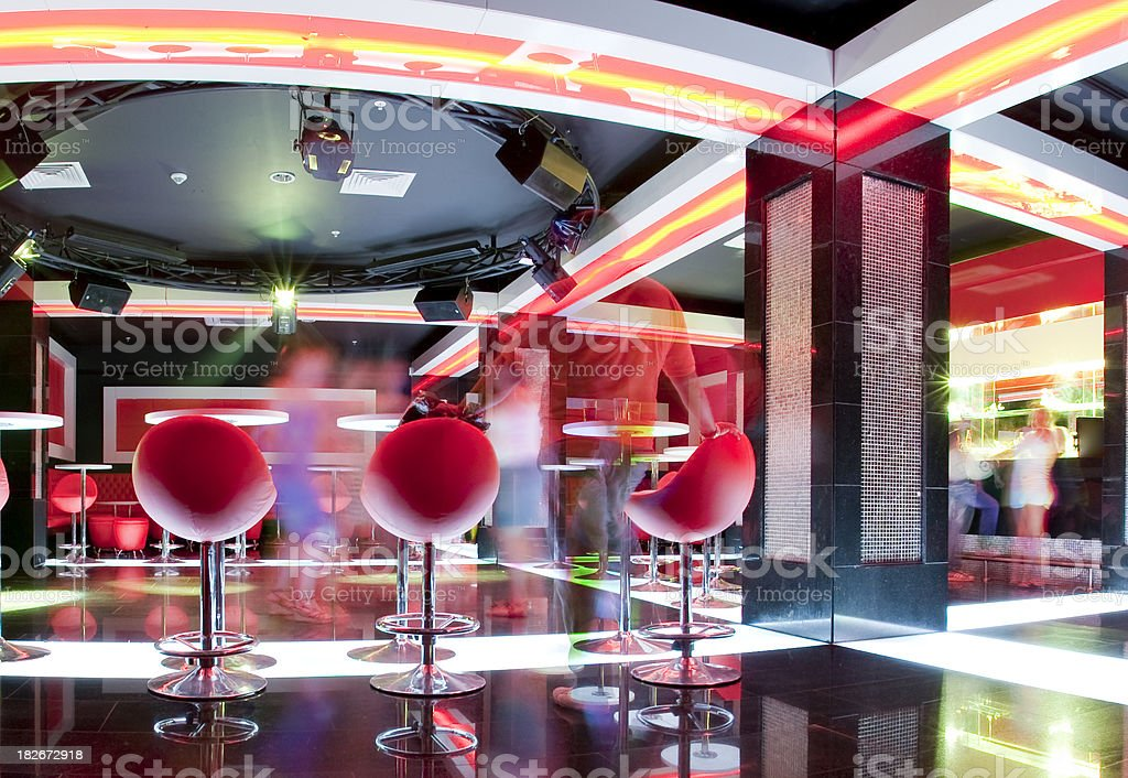 Night Club and dancing royalty-free stock photo