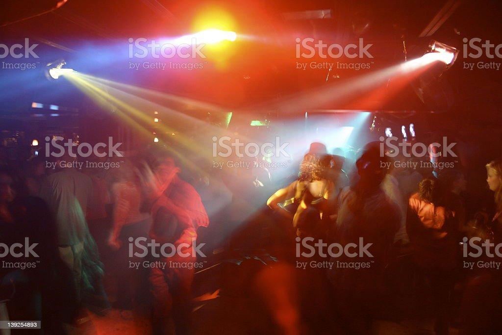 Night club Dance Floor Crowd royalty-free stock photo