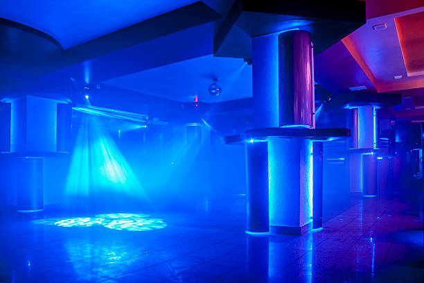 night club light - dance floor stock photos and pictures
