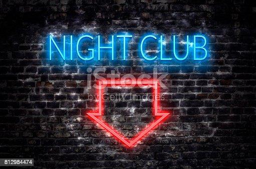 511875398 istock photo Night club neon sign 812984474