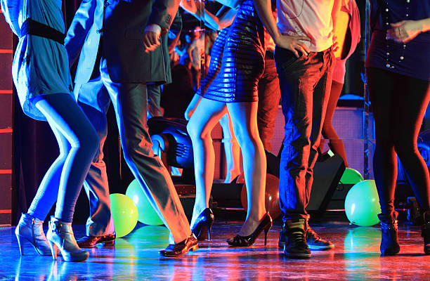 night club party - disco dancing stock photos and pictures
