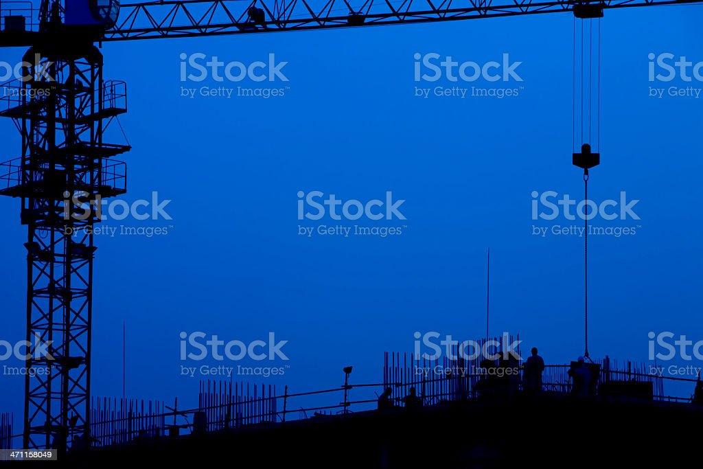 Night Construction stock photo