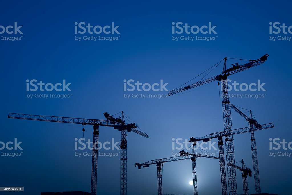Night Construction royalty-free stock photo