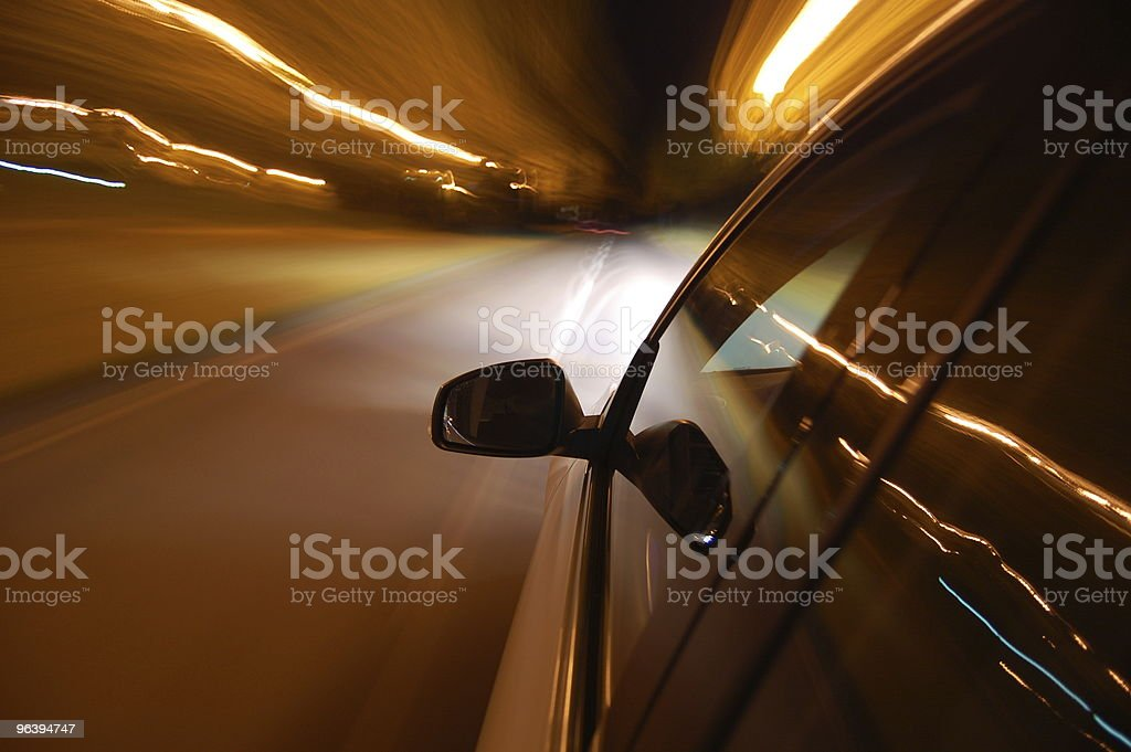 night drive with car in motion - Royalty-free Abstract Stock Photo