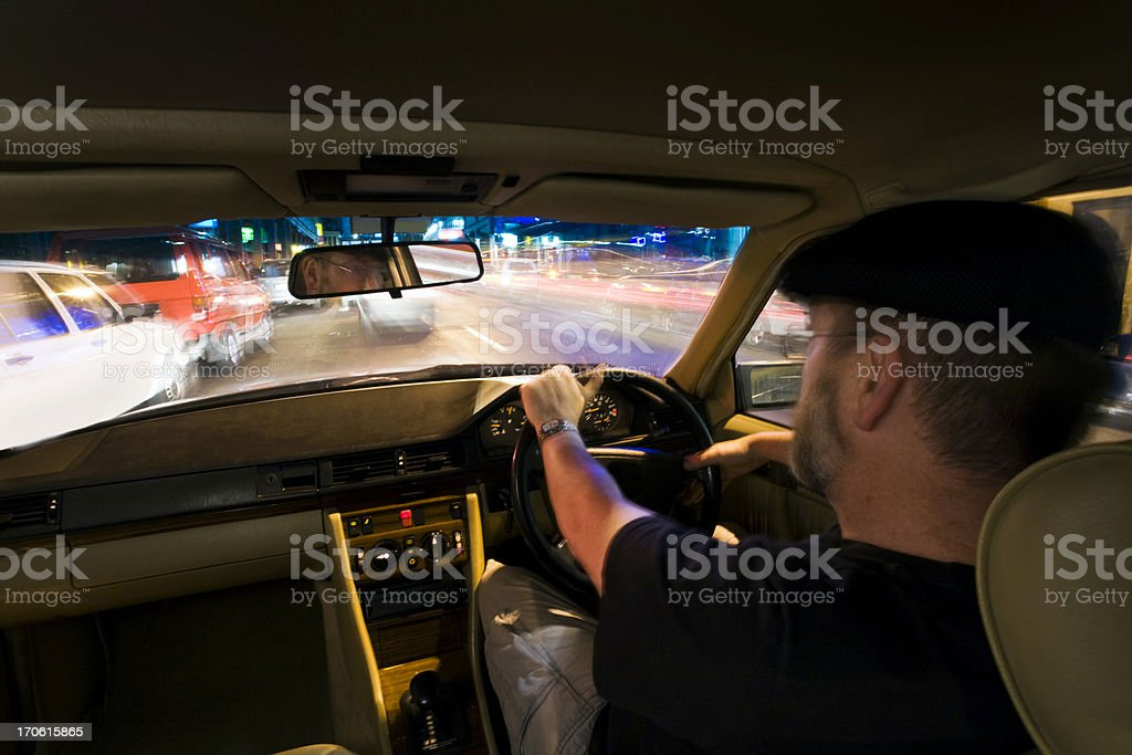 Night driver stock photo