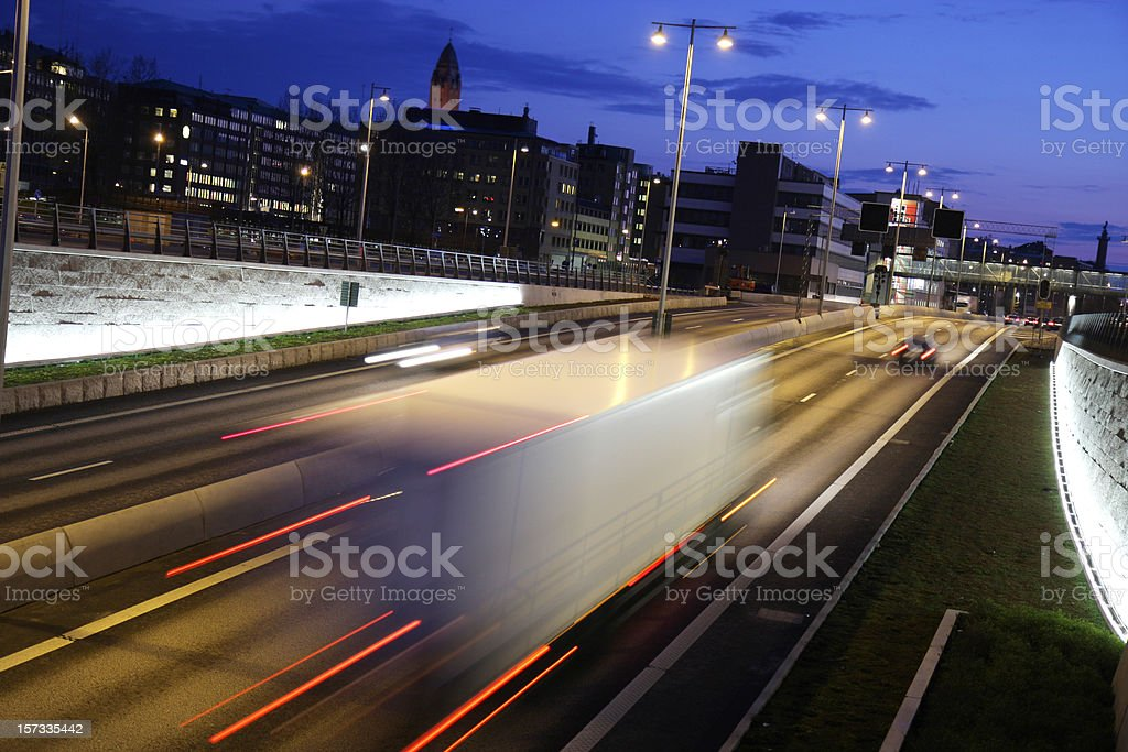 Night Driving - Royalty-free Beat The Clock Stock Photo