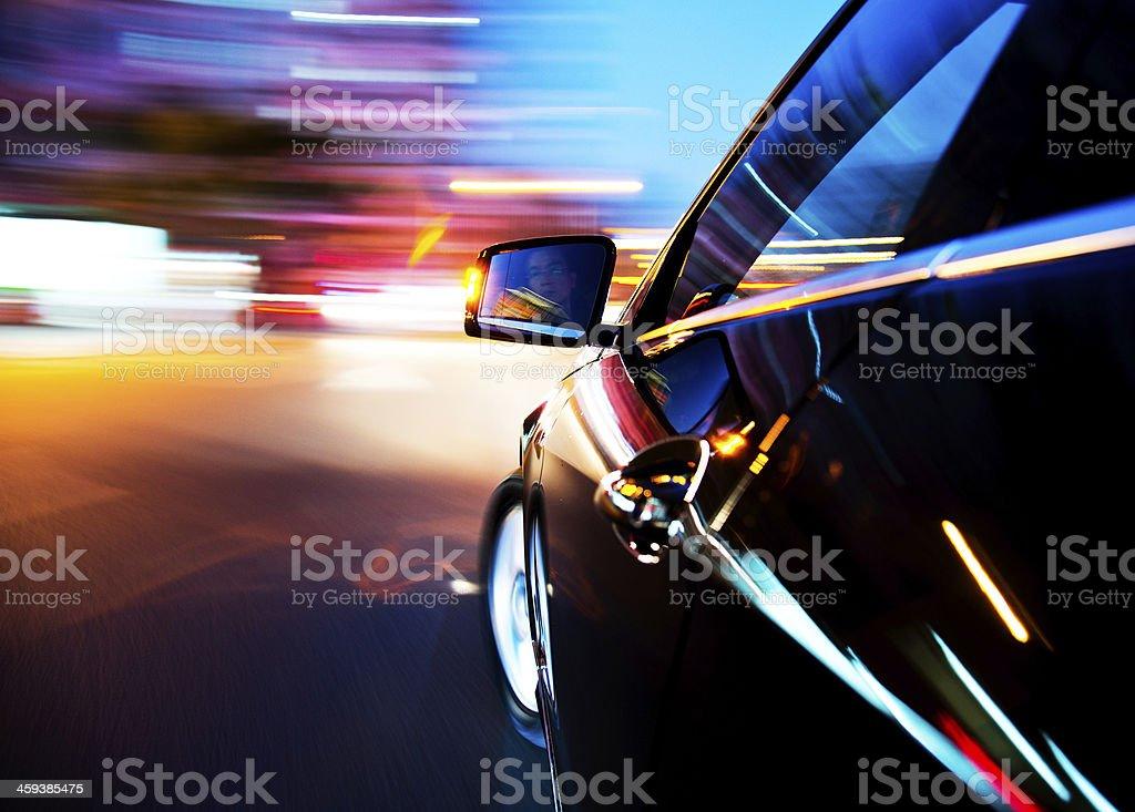 Nacht dem Auto – Foto