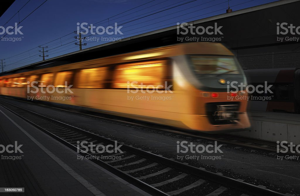 Night Express Train royalty-free stock photo