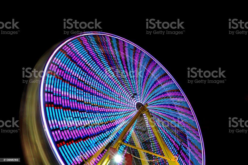 night ferris wheel stock photo