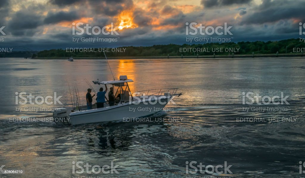 Night Fishing Trip stock photo