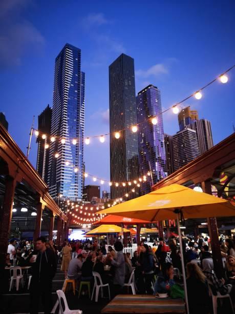 Night Food Market - Melbourne stock photo