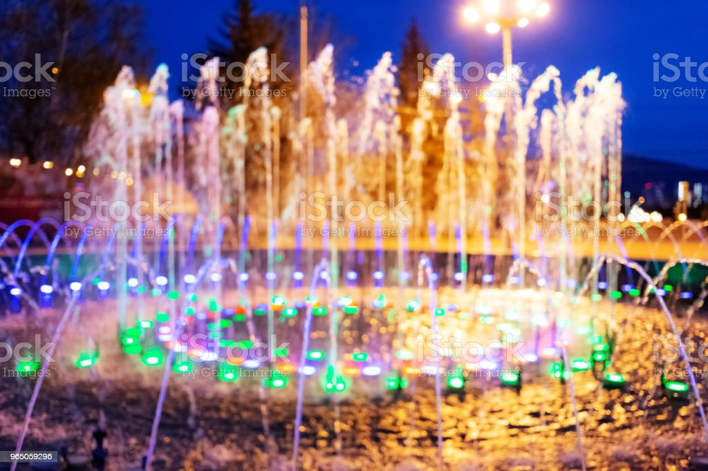 night fountain blurred background royalty-free stock photo