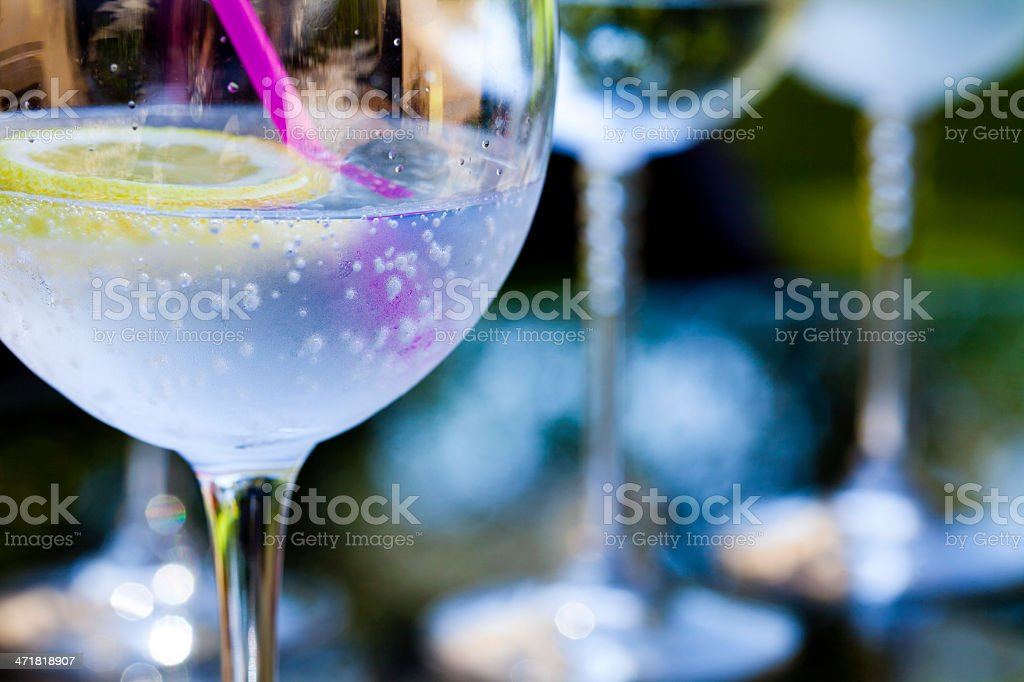 Night garden party stock photo