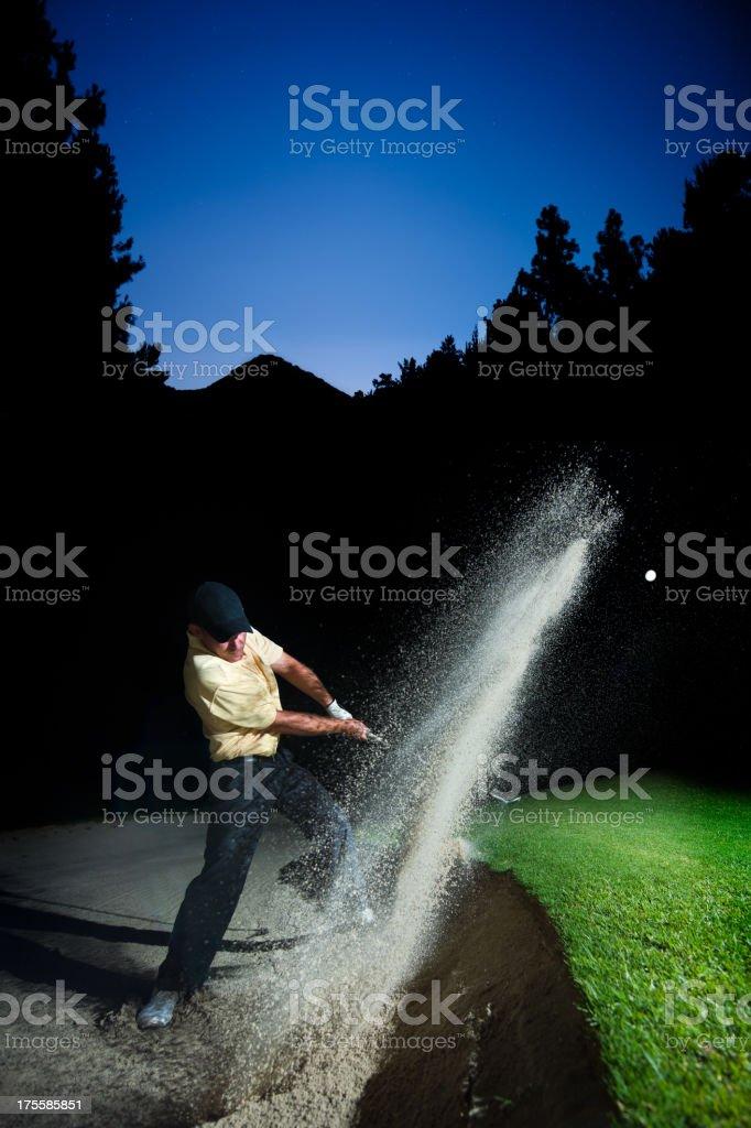 Night Golfer stock photo