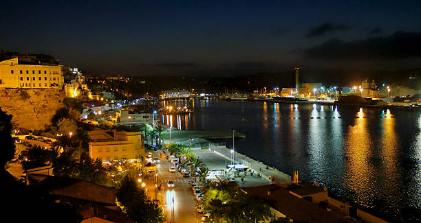 Night Harbor stock photo