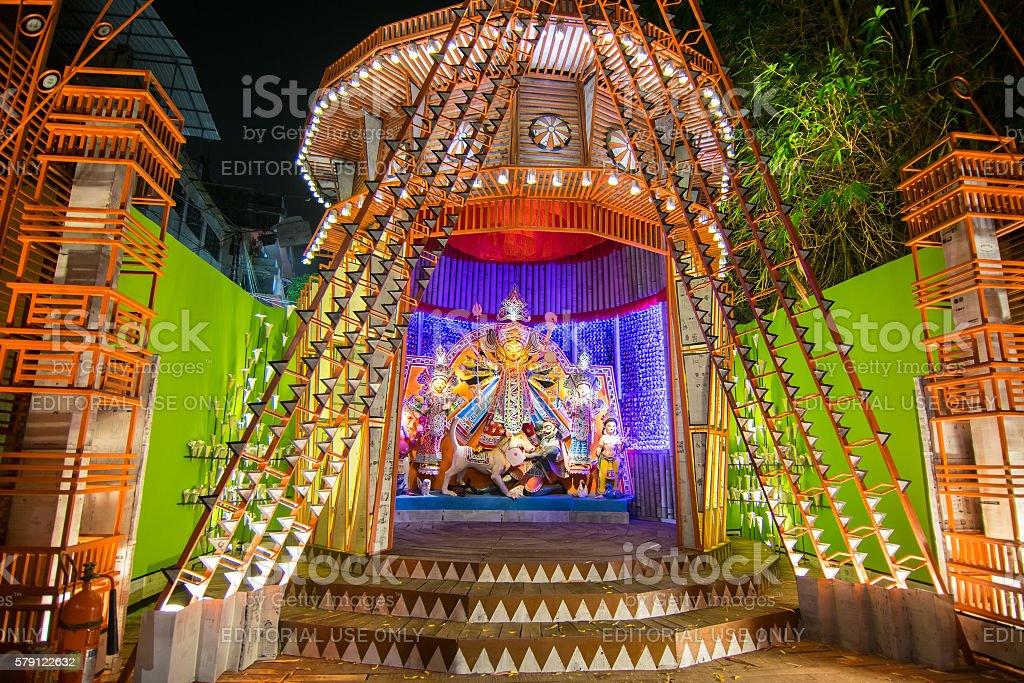 Night image of durga puja pandal kolkata west bengal india stock night image of durga puja pandal kolkata west bengal india royalty free altavistaventures Gallery