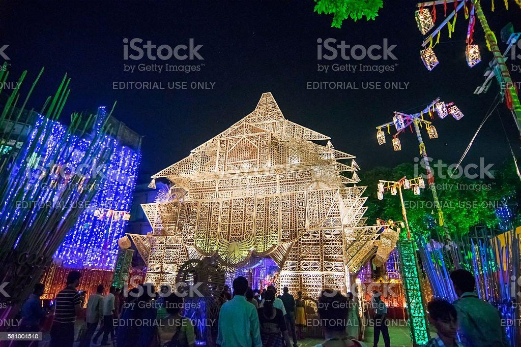 Night image of durga puja pandal kolkata west bengal india stock night image of durga puja pandal kolkata west bengal india royalty free altavistaventures Choice Image