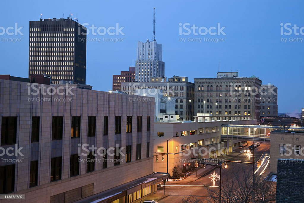 Night in Akron royalty-free stock photo