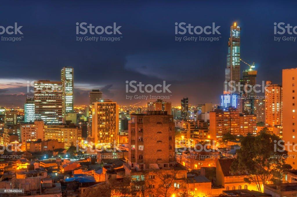 Noche en Bogotá - foto de stock