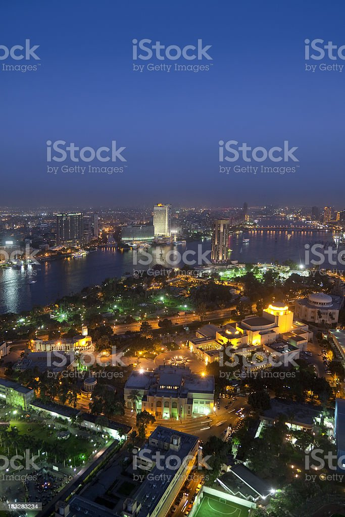 Night in cairo royalty-free stock photo