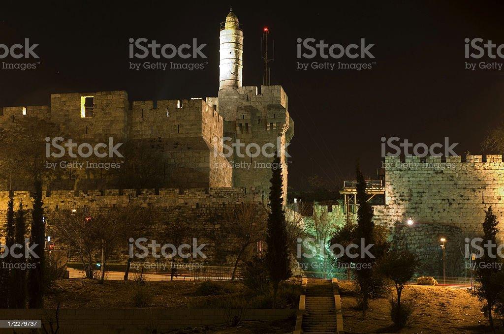 Night in Jerusalem royalty-free stock photo