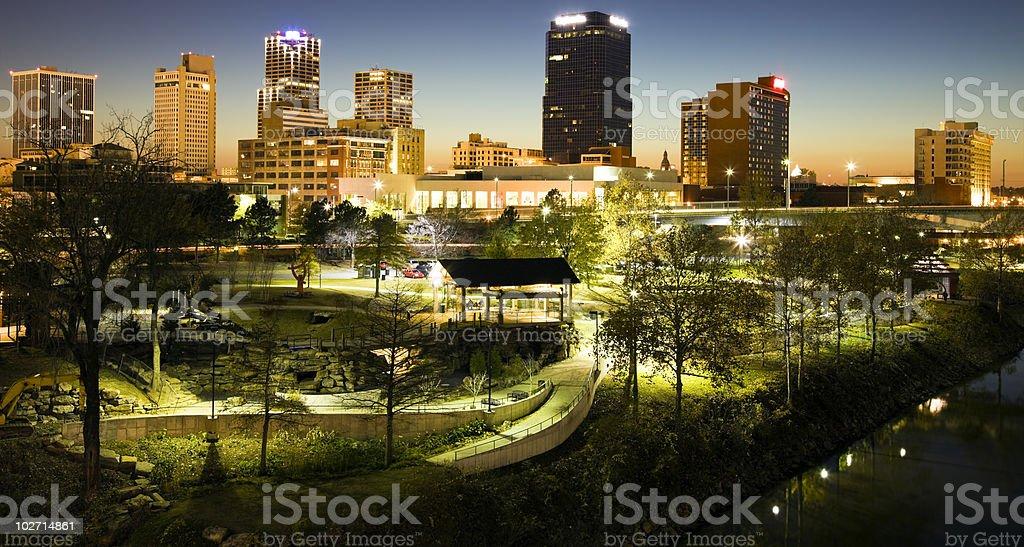 Night in Little Rock stock photo