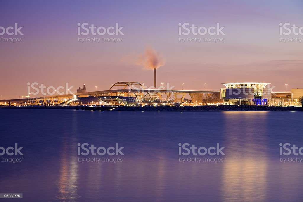 Night in Milwaukee royalty-free stock photo