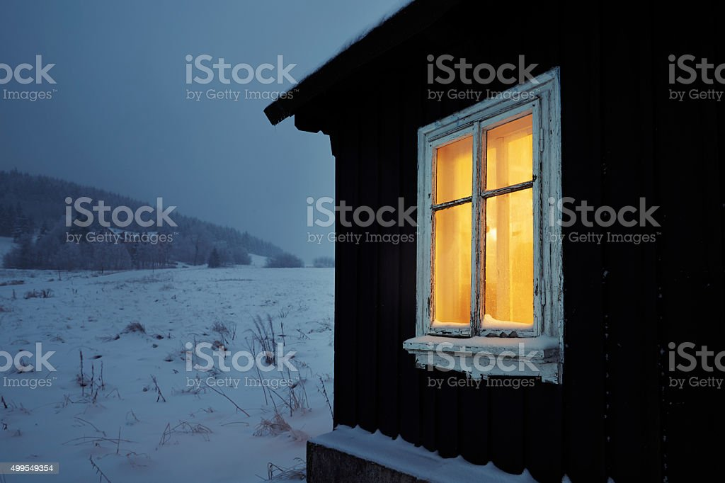Night in mountains stock photo