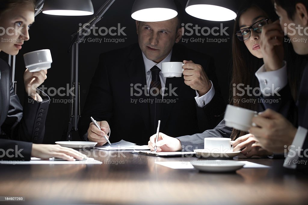 Night in office royalty-free stock photo