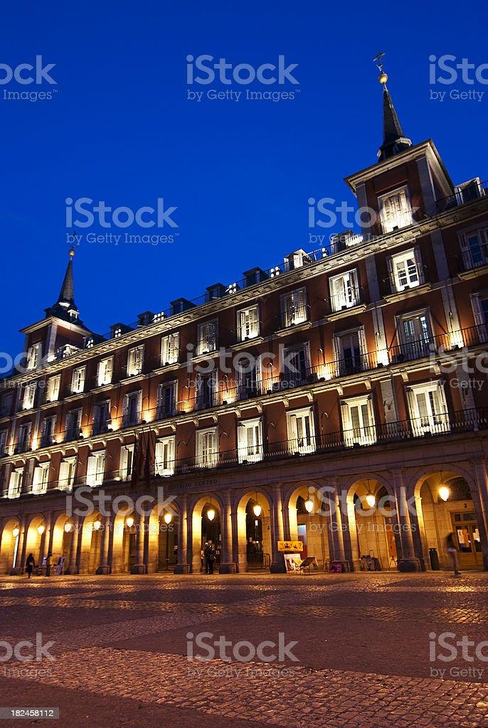 Night in  Plaza Mayor , Madrid, Spain royalty-free stock photo