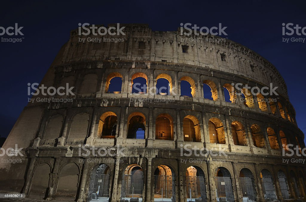 night in rome royalty-free stock photo
