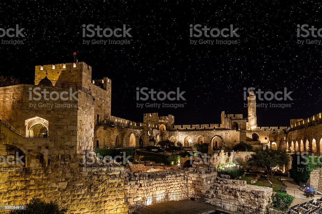 Night in the Old City stock photo