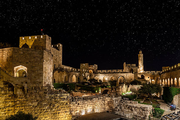 night in the old city - jeruzalem stockfoto's en -beelden