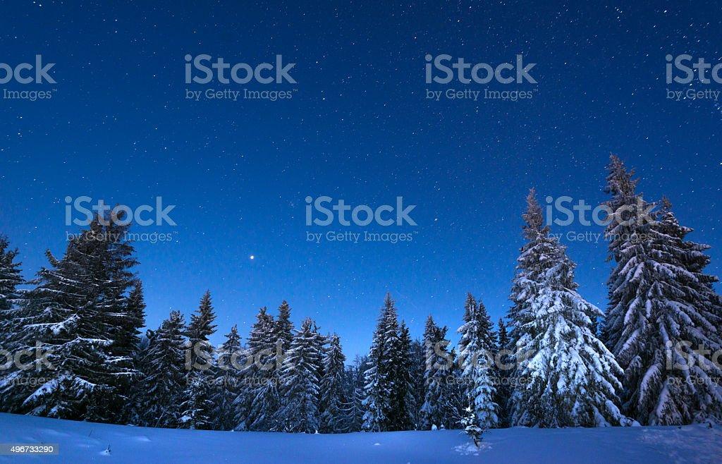 Übernachtung im snowy mountains – Foto