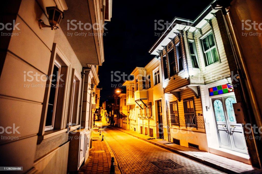Night in town - Istanbul, Turkey stock photo