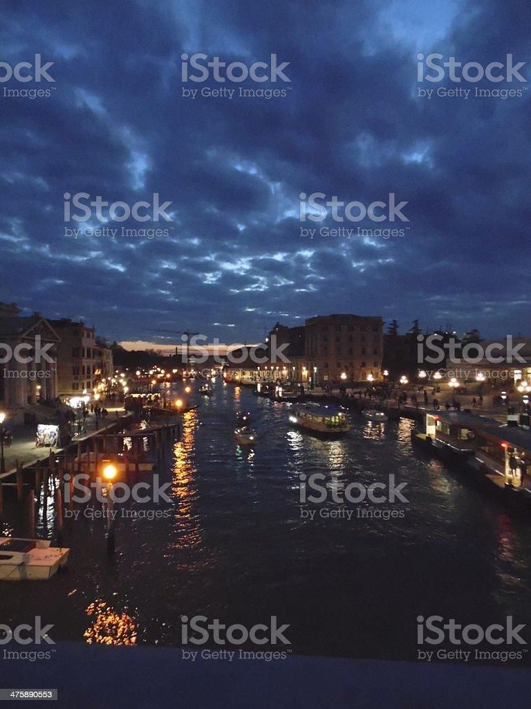 Night In Venice royalty-free stock photo
