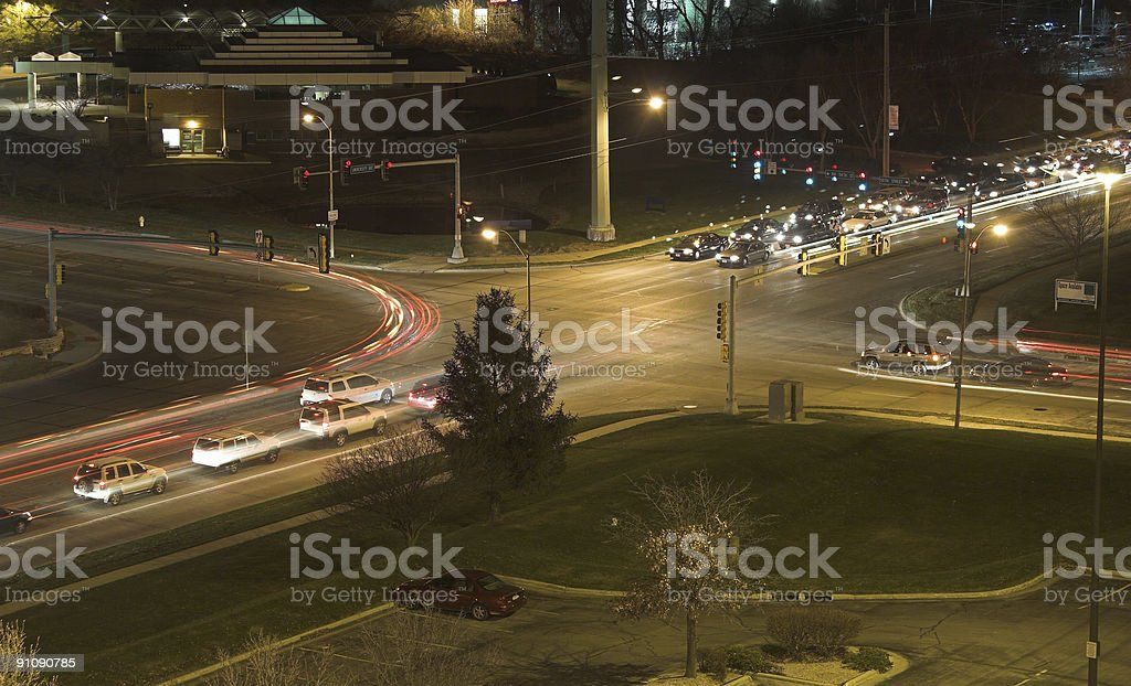 Night Intersection 2 royalty-free stock photo