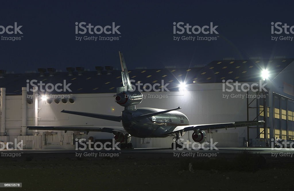Night Jet #1 royalty-free stock photo
