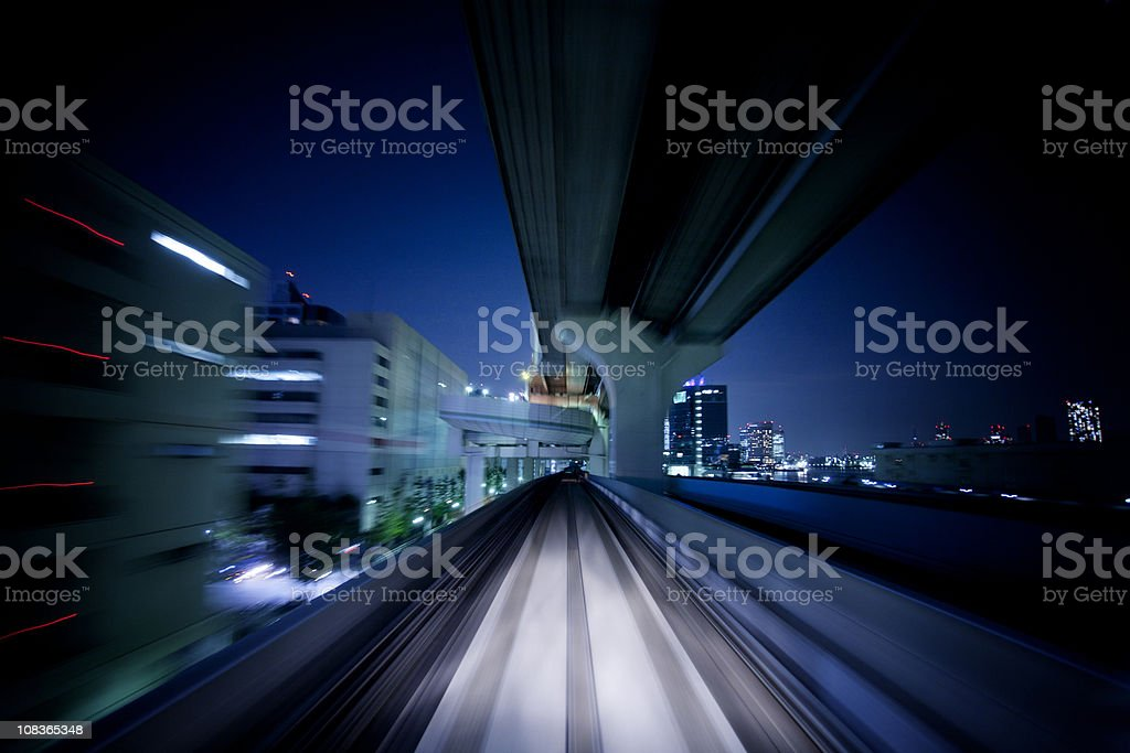 Night journey royalty-free stock photo