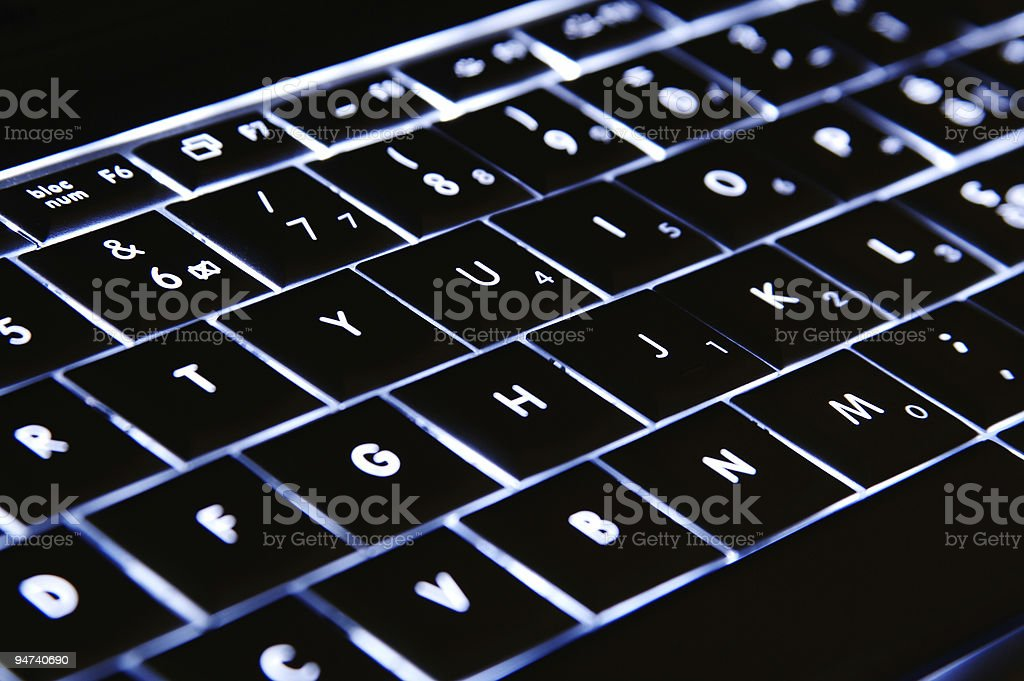 Night keyboard [one] royalty-free stock photo