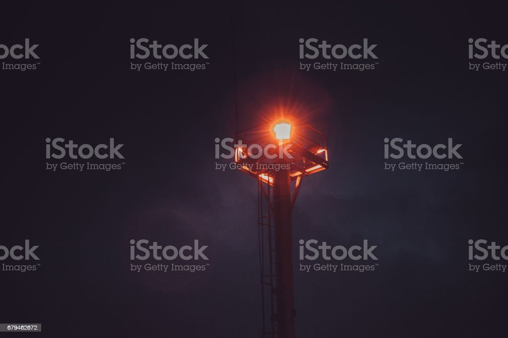 Night lamp in a gloom royalty-free stock photo