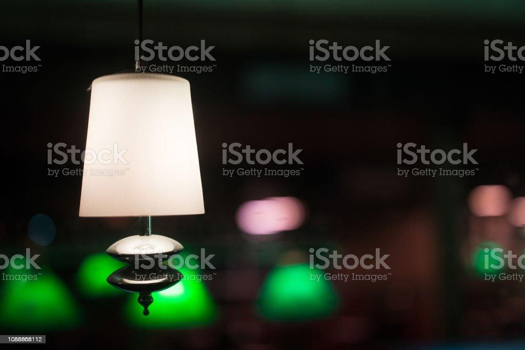 Night lamps in night club