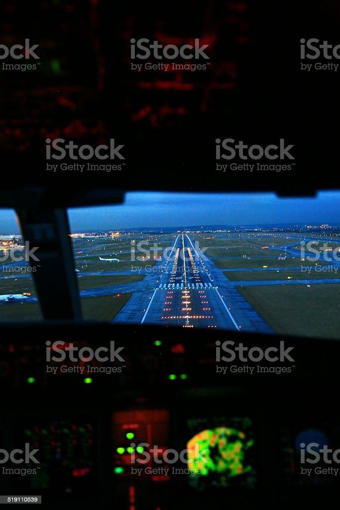 night landing stock photo