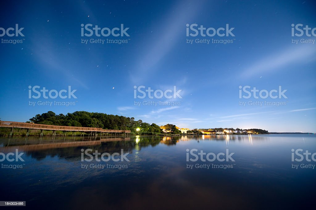 Night landscape stock photo