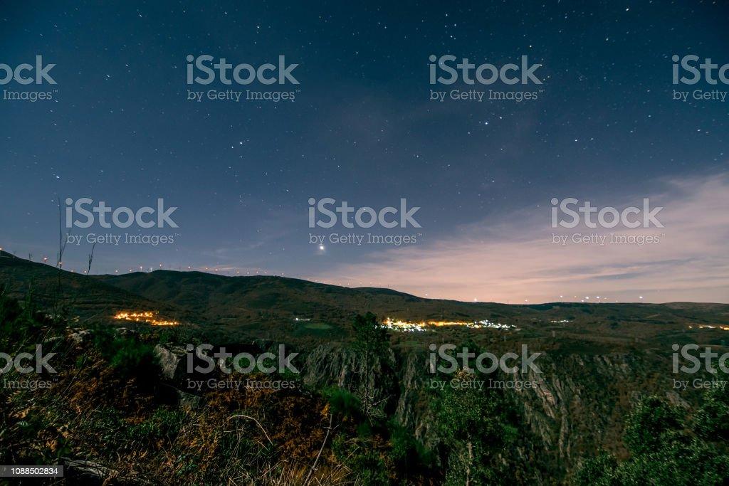 photographs taken at night, in Galicia, Spain